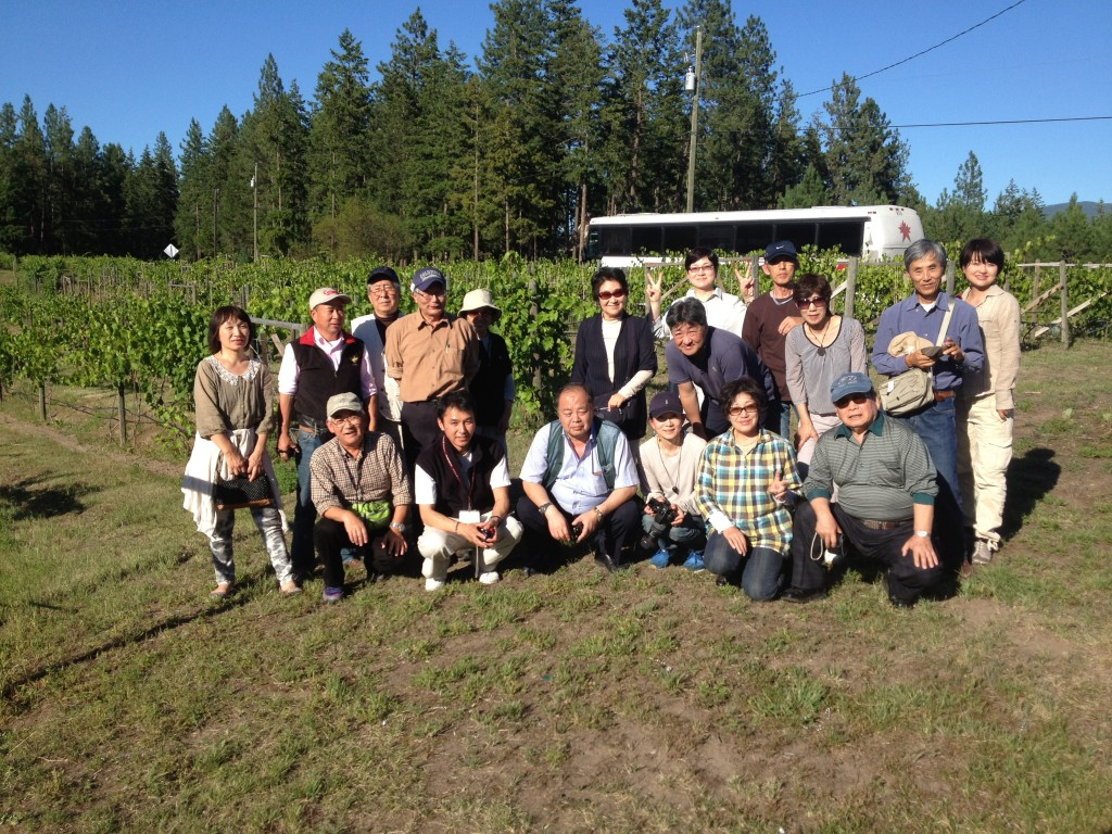 We get the occasional bus tour and were pleased to welcome these folks from Taiwan last year.