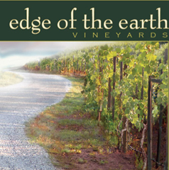 That's a stylized photo of our vineyard on a fall evening on the label.